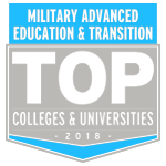 Named a Top School in the 2018 Military Advanced Education & Transition Guide